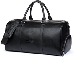 BOSTANTEN Genuine Leather Travel Weekender Overnight Duffel Bag Gym Sports Luggage Bags For Men Black -- Click image for more details. Best Luggage, Luggage Bags, Kids Luggage, Mens Weekend Bag, Gentleman, Best Tote Bags, Barrel Bag, Duffel Bag, Crossbody Bag