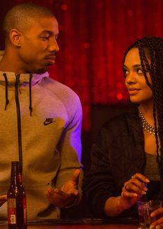 Michael B. Jordan and Tessa Thompson in Creed Michael B Jordan Girlfriend, Michael Bakari Jordan, Black Love Couples, Cute Couples Goals, Couple Goals Relationships, Relationship Goals Pictures, Creed Movie, Flipagram Instagram, Black Is Beautiful