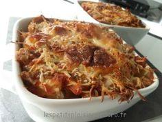 Gratin d'aubergines riz tomate 4PP/pers