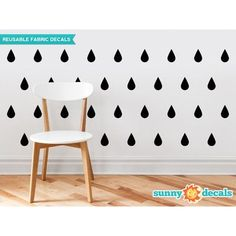 Sunny Decals Raindrop Fabric Wall Decal Color: