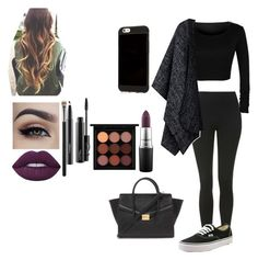"""""""#MACcosmetics"""" by moniybrooks on Polyvore featuring Topshop, Vans, Lime Crime, MAC Cosmetics and Forever 21"""
