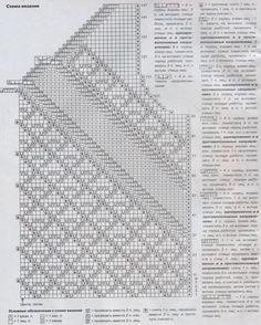 ru wp-content uploads 2013 07 Top-s-diagonalnyimi-uzorami-vyazanyiy-spitsami-shema. Knitting Paterns, Knit Patterns, Crochet Blouse, Crochet Top, Pull, Tops, Charts, Blouse Sewing Pattern, Sewing Patterns