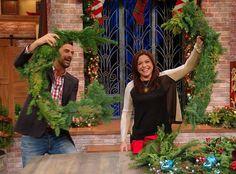 John Gidding's Wreath Workshop  for double door cut wreath in half