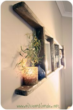 oliveonblonde.com - ladder shelf recycled