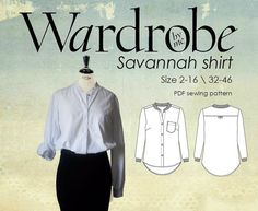 Contemporary Fashion Shirt PDF sewing by Wardrobebyme on Etsy