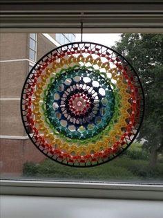 mandala colorful mandala window