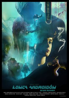 BLADE RUNNER - poster Large print of this one is available here if you're interested (etsy) www.etsy.com/shop/PLukaszewski…