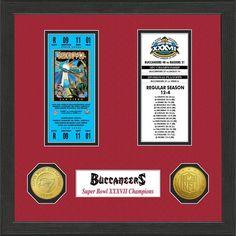 Tampa Bay Buccaneers Super Bowl Ticket Collection Plaque