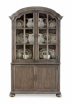 Orleans Antique White China Cabinet