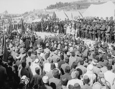 RELIGIOUS CEREMONY WITH THE TURKISH SOLDIERS AND PALESTINIAN PEOPLE IN JERUSALEM Turkish Soldiers, Religious Ceremony, Jerusalem, War, People, People Illustration, Folk