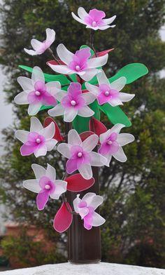 falling orchid vase by DennysKraftKorner on Etsy