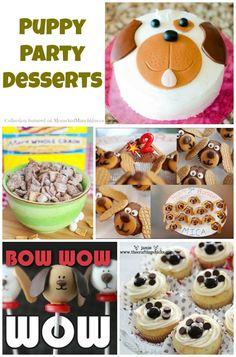 Puppy Party Desserts #Puppy #Dog #Birthday www.momsandmunchkins.ca