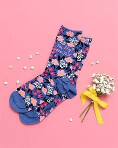 #funnysocks #sassy #swearwords Funny Socks, Cute Socks, Floral Socks, Happy Socks, Surface Pattern Design, New Wardrobe, Pretty Woman, Hosiery, Fit Women