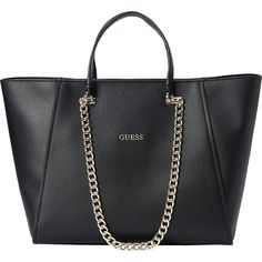 54dbe67175 GUESS Nikki Chain Tote ($94) ❤ liked on Polyvore featuring bags, handbags,