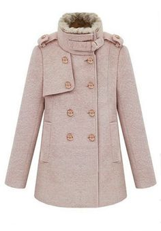 Love this muted pink coat