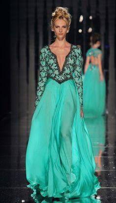 vestido color acua