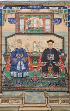 CHINESE ANSESTOR SCROLLS | Ancestors portrait