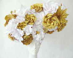 Cool flower & butterfly head piece—The Mill—artist, Zoe Bradley Design