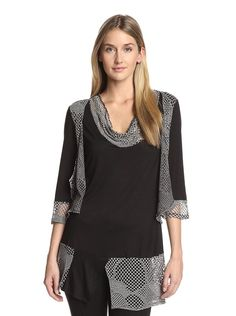 Lily by Firmiana Women's Net Patchwork Tunic at MYHABIT