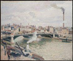 Camille Pissarro, Morning, An Overcast Day, Rouen on ArtStack #camille-pissarro #art