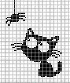 62 Ideas Knitting Charts Halloween For 2019 Knitting Charts, Knitting Stitches, Cross Stitch Charts, Cross Stitch Patterns, Cross Stitching, Cross Stitch Embroidery, Crochet Chart, Crochet Patterns, Deco Violet