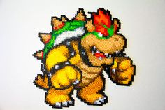 Large Bowser in Perler Beads by Zanmanny on deviantart