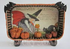 Witch in the Pumpkin Patch: Halloween Altered Altoid Tin Halloween Paper Crafts, Halloween Projects, Holidays Halloween, Vintage Halloween, Fall Crafts, Halloween Crafts, Holiday Crafts, Happy Halloween, Halloween Decorations