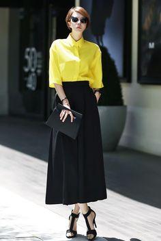 Basic Kara 7 Sleeve Shirt  Yellow shirt yellow blouse dint 딘트 basic shirt