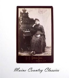 Antique Cabinet Card Photo WOMAN SEATED AT STERLING ORGAN Parishville New York
