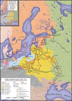 War Battle Map, 1700-1721