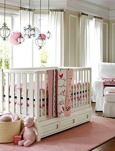 Little Girls Nursery||Pottery Barn Kids..