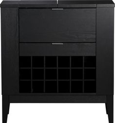 Shoe and purse storage in the bedroom? Parker Spirits Ebony Cabinet  | Crate and Barrel