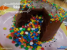 Torta+piñata+rellena+de+confites