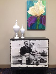 Facebook Friday . Love this dresser from the Painter's Roost and painted in Lincoln's Hat by American Paint Company.