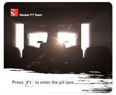 """Sauber F1 Team Mousepad """"Press F1"""""""