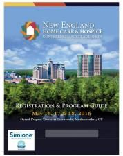 Six States. One Conference. Hundreds of Attendees.  The New England Home Care & Hospice Conference and Trade Show is the region's premier event for home care and hospice agencies. It's hosted by the six New England state home care associations, which collectively represent nearly 400 organizations. This year, the conference returns to the Foxwoods Resort & Casino on May 16, 17,&18, 2016.