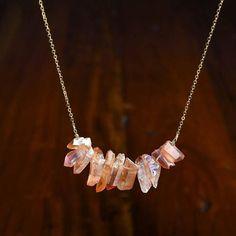 Rainbow Quartz Point Tribal Necklace-Necklace-Aria Lattner