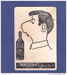 Cartão publicitario MACIEIRA: homem com nariz movimento
