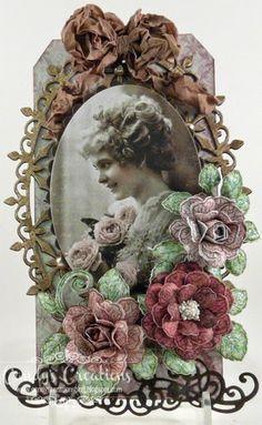 Candy's Creations: Vintage Fuchsia Tag & Bold Fuchsia Card