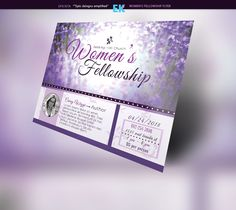 Women's Fellowship Flyer Template by Epickita on @creativemarket
