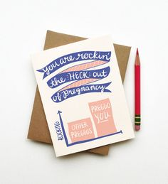 You Are Rockin Pregnancy card congrats expecting mom to be baby shower gift for wife sister daughter best friend funny clever cute