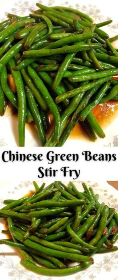 Stir Fry Beans, Stir Fry Green Beans, Cooking Green Beans, Chinese Green Beans, Chinese Greens, Asian Green Beans, Chinese Beans Recipe, Asian Side Dishes, Vegetable Side Dishes
