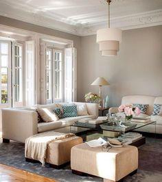 58 elegant living room colour schemes make your beautiful home 47 Living Room Paint Design, Living Room Color Schemes, Dining Room Design, Colour Schemes, Elegant Living Room, New Living Room, Home And Living, Sofa Colors, Small Apartment Decorating