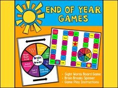 {Freebie} End of Year Games