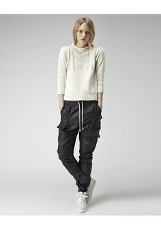Shop Fashion on La Garconne, an online fashion retailer specializing in the elegantly understated. Sweatpants Style, Rick Owens, Clothing Items, Fashion Forward, Parachute Pants, Fashion Online, What To Wear, Normcore, My Style