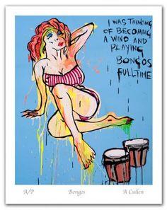 "Adam Cullen ""Bongos"" Edition of 99 plus A/P's Acid Free Archival Rag Paper Image Size: x Indigenous Art, Australian Artists, Contemporary Artists, Australian Art, Screen Printing, Limited Edition Prints, Art, Master Of Fine Arts, Prints"