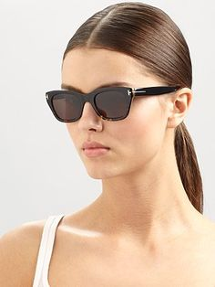 f11b8ebfe00 Tom Ford - Snowdon Square Plastic Sunglasses