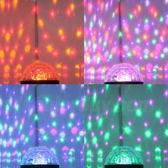 Fuloon Remote Control Music Active Crystal Ball LED Stage Lighting Club Disco DJ Party Lights New Led Curtain Lights, Ceiling Lights, Welcome Holidays, Dj Party, Party Lights, Stage Lighting, Wedding Places, Crystal Ball, Remote
