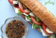 Extra zöldséges szendvics édeshagymás szósszal