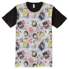 Shop Chibi Super Heroine Pattern All-Over-Print T-Shirt created by justiceleague. Animated Movies For Kids, Superman T Shirt, Retro Cartoons, Stylish Shirts, Kids Patterns, S Shirt, White Elephant Gifts, Toy Story, Pattern Fashion